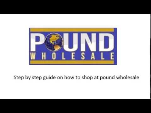 Guide on how to shop at pound wholesale website