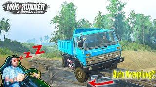 Auto Nyemplung.!!! Sopir Dump Truck Dong Feng Kalimantan