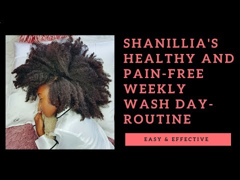Shanillia's 4c hair Weekly Washday Routine- A Tear-free and Healthy Regimen