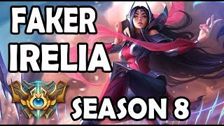 SKT FAKER plays IRELIA MID vs CASSIOPEIA - Ranked Challenger Korea