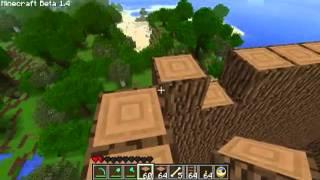 Zagrajmy w Minecraft PL_Minicraft PL multiplayer part 3a - największe drzewo minecrafta