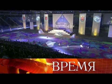 ВСанкт-Петербурге 10 тысяч зрителей впервые посетили новый стадион «Зенит-Арена».