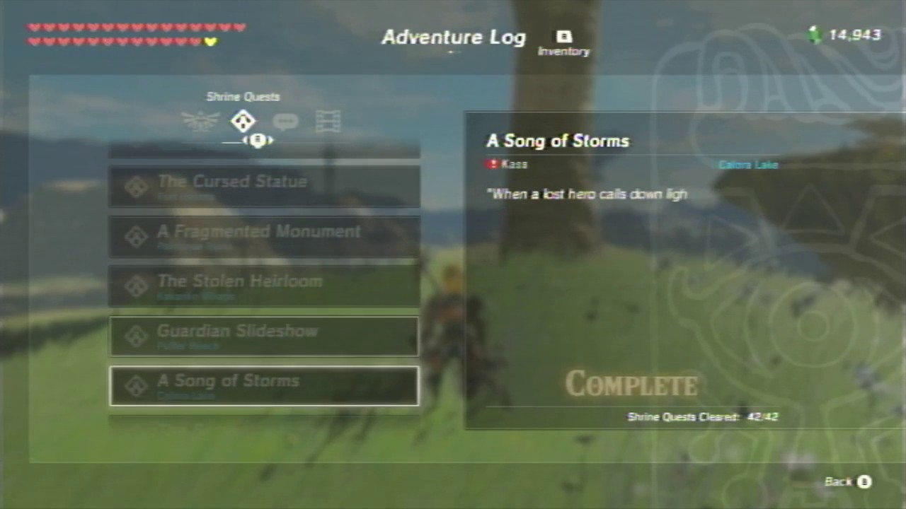 Superior Breath Of The Wild   List Of All Shrine Quests