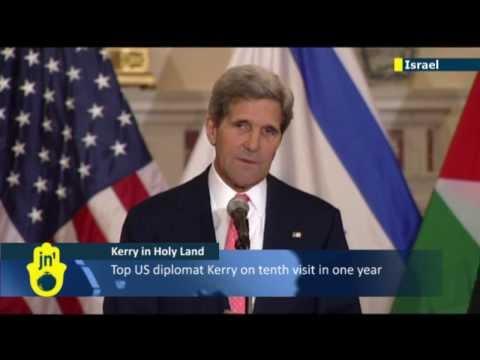 US Secretary of State John Kerry arrives back in Israel to push Israeli-Palestinian peace deal