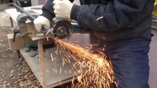 Тест отрезного круга по металлу NORTON 125х1(Профильная труба 40х20х2 http://aysistor.ru/catalog/otreznye_krugi_po_metallu_i_nerzhavejushhej_stali/, 2014-11-16T17:53:32.000Z)