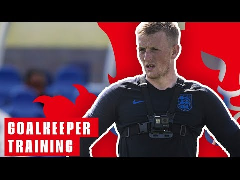 England Goalkeeper Training: Jordan Pickford's Point of View! | Goalkeeper Training | England