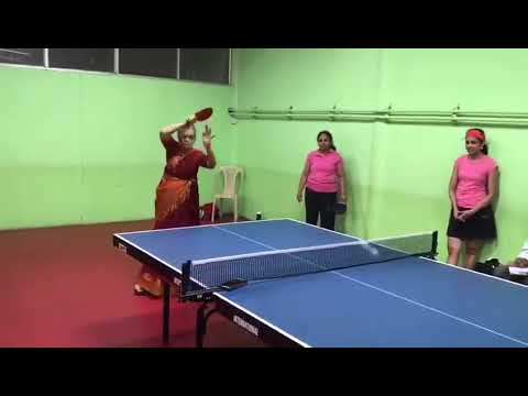 Tamil Granny Smashing TT | Awesome Table Tennis