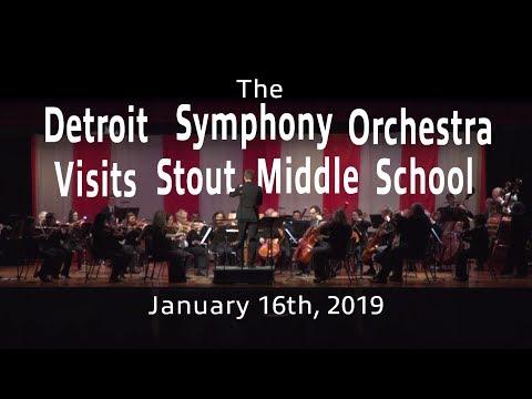 The Detroit Symphony Orchestra Visits Stout Middle School