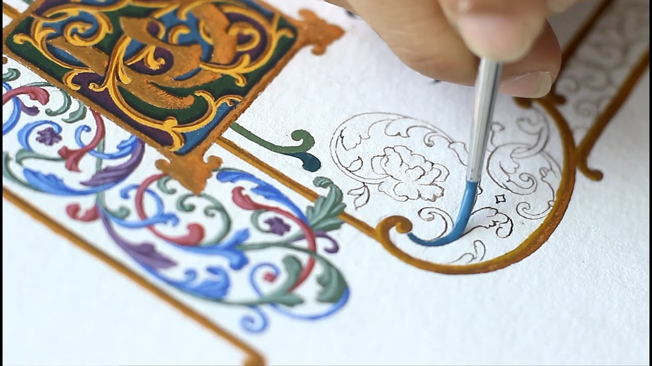 Process of painting Ornaments