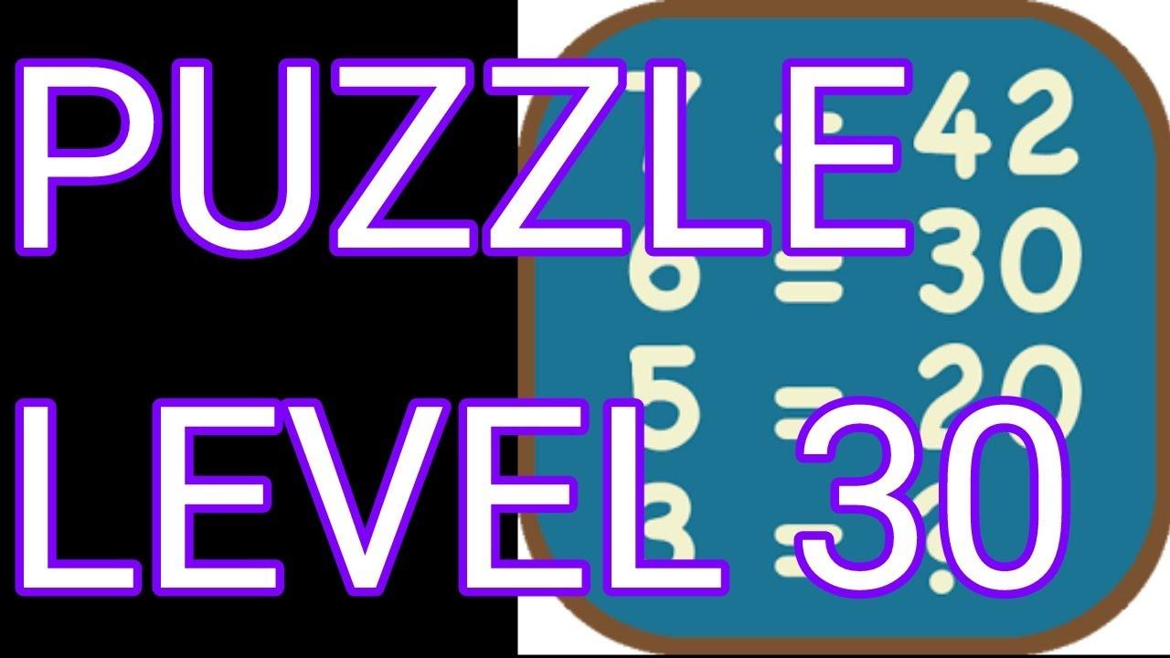 Math Puzzles Level 30 Walkthrough - YouTube