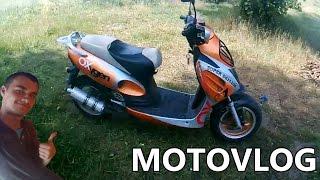 Podwórkowy MotoVlog #34 Demon prędkości, kurniki, wolny OPEL czyli wypadzik skuterem :D