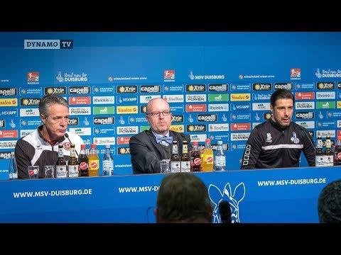 18. Spieltag | MSV - SGD | Pressekonferenz nach dem Spiel