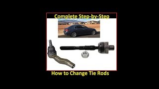 How to replace Inner & Outer Tie Rods: MOOG brand nissan skyline