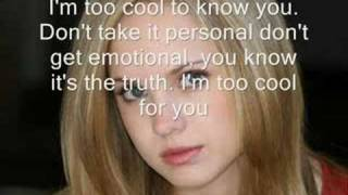 Meghan Martin-Too Cool (w/ lyrics)