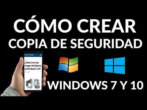 ¿Cómo Crear una Imagen del Sistema en Windows 7 y 10?