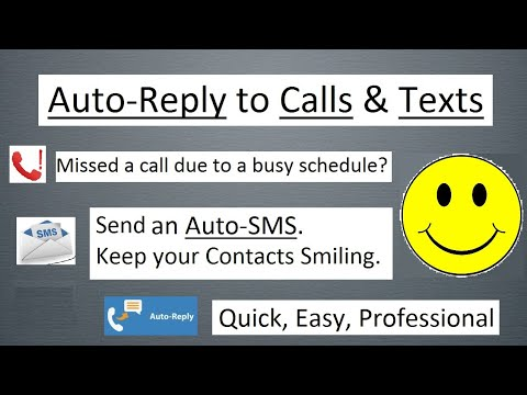Automatic Reply/Response To Missed Call And SMS/Message/Text | AutorReply On Android With Crack 2020