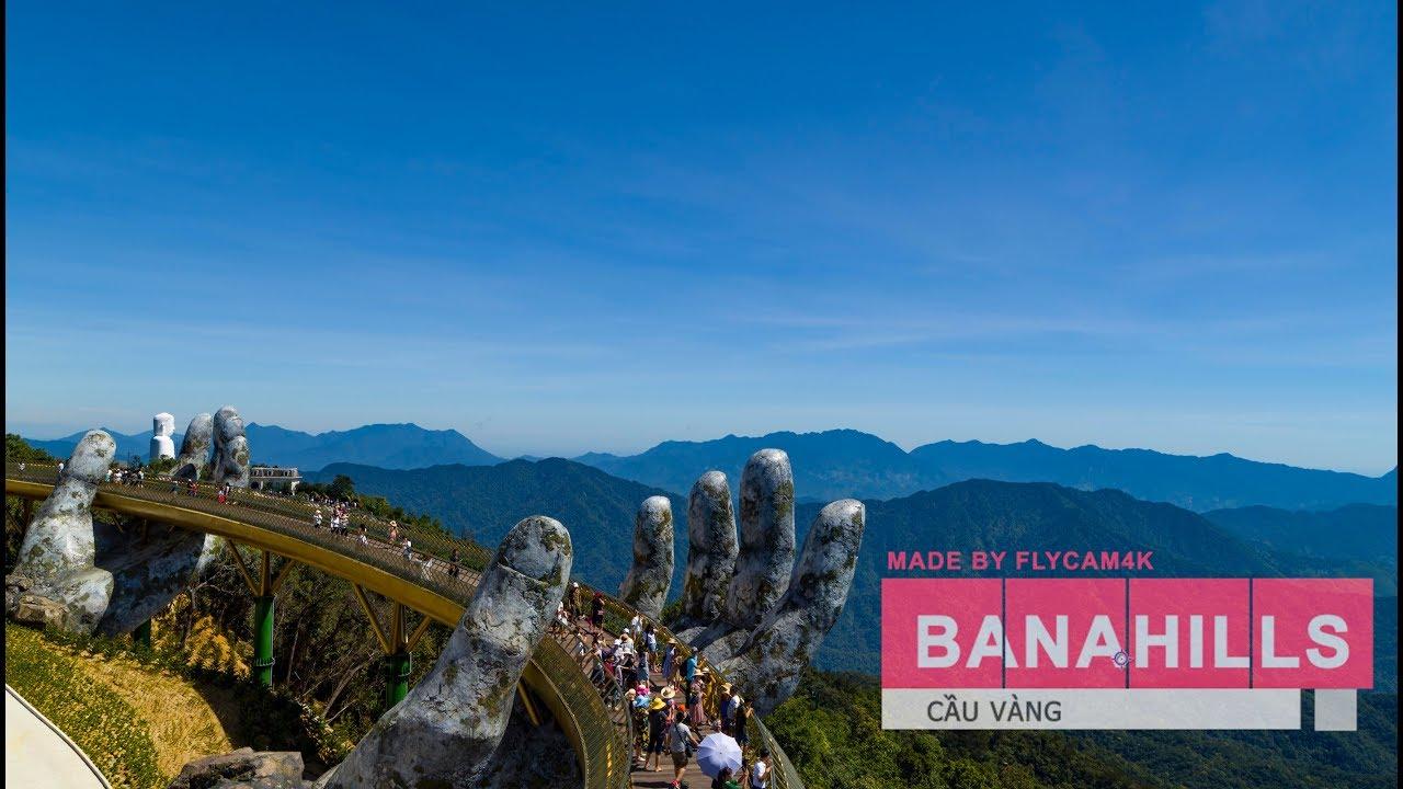 Cầu Vàng - Bà Nà Hill - Đà Nẵng | Cảnh Đẹp VIỆT NAM | Flycam 4k
