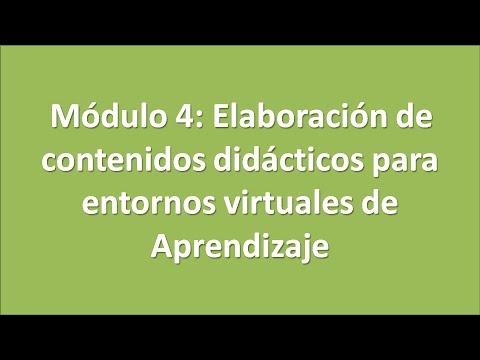 Módulo 4 Elaboración De Contenidos Didácticos Para Entornos Virtuales De Aprendizaje