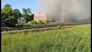 Pożar w hali produkcyjnej w Bogdańcu w woj. lubuskim