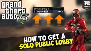 How to create a solo public lobby GTA V | Easy GTA V Money