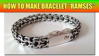 "Video How to make soldered chain ""Ramses"" - video tutorial 