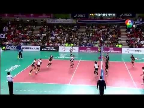ช่อง 7 HD - ทดลองบันทึกภาพการแข่งขันวอลเลย์บอล FIVB 2014 [ไทย - เกาหลีใต้] - FULL HD 1080p