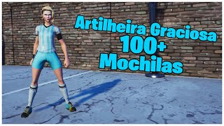 SHOWING THE SKIN ARTILHEIRA GRACIOSA & 100 + BACKPACKS | FORTNITE