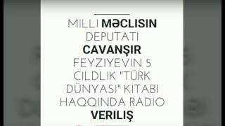 Cavanşir Feyziyevin Türk dünyası kitabı haqqında radio veriliş