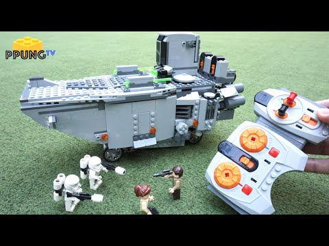 LEGO Star Wars 75103 - RC Motorized First Order Transporter review by 뿡대디