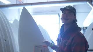 """CI Surfboards Factory Employee Test Rides New """"Ultra Joe"""" Model"""