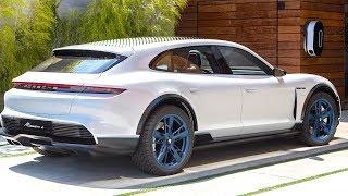 Porsche Taycan Review Update 2019 Video More Detail Electric Porsche Mission E Cross Turismo