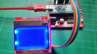 Arduino Nokia 5110 LCD Tutorial #1 - Connecting and Initial Programming