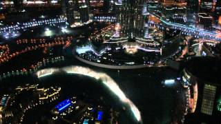 Dubai Waterfountain  View from Neos bar, The Address Downtown Dubai  2012
