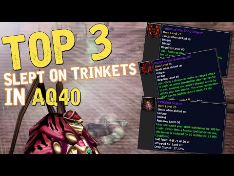 Classic WOW - Top 3 MOST Powerful Trinkets In AQ40 (people Don't Think Are Powerful)