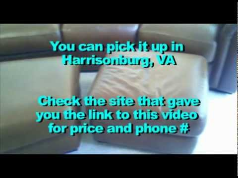 Leather Couch For Sale In Harrisonburg Va Youtube