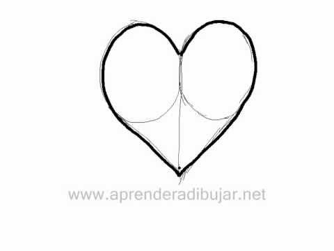 Como dibujar un corazon - Dibujos de amor - YouTube