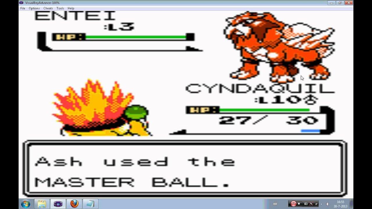 pokemon heart gold how to catch entei