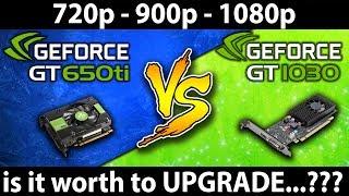 Скачать GT 1030 Vs GTX 650 Ti G4560 720p 900p 1080p 10 Games Benchmark