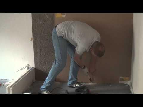 бескаркасная звукоизоляция стены   монтаж