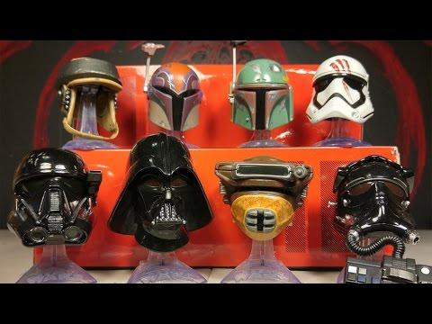 Star Wars Black Series Titanium Series Sabine Wren and Darth Vader Helmet 08 New