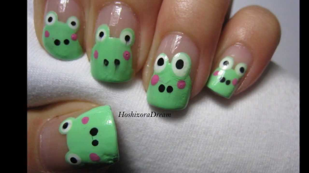 Frog Nail Art Tutorial - YouTube