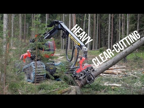 Komatsu 951 with C144 Heavy Clear-Cutting (4k)