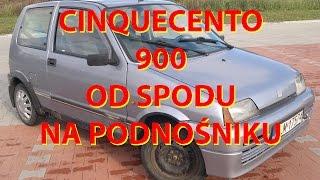 OD SPODU #11 NA PODNOŚNIKU FIAT CINQUECENTO 0.9 1995r OCZY WYCHODZĄ Z ORBIT