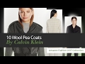 10 Wool Pea Coats By Calvin Klein Amazon Fashion 2017 Collection