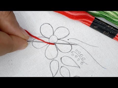 Brazilian stitch flower design/brazilian embroidery/brazilian embroidery flowers