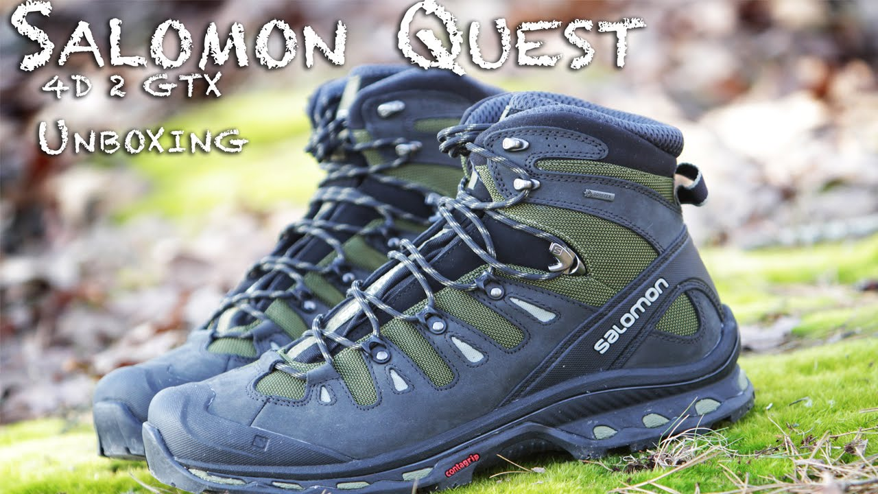 08a0655229ea5 Salomon Quest 4D 2 GTX Unboxing - YouTube