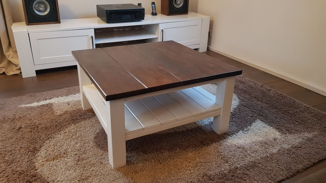 - DIY Rustic Coffee Table - Landhaus Couchtisch Selber Bauen - YouTube