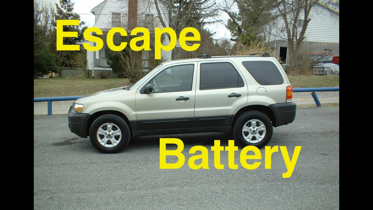 Ford Escape Battery Replacment 2006