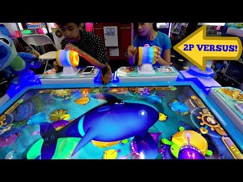 Arcade Gaming Mechanized Fishing Kids Challenge!