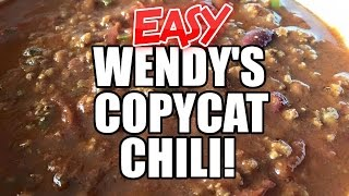 Wendy's Inspired Chili Recipe - Ninja or Stovetop